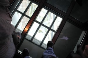 ThePilot ventured out on the glass floor. You can see 450 meters to the ground.